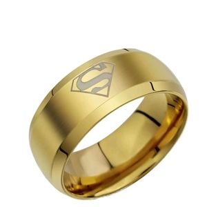 Other - Men's Stainless Steel Superman Ring